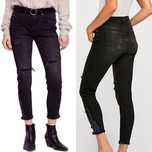 NWT Free People About a Girl Ripped High Waist Cro